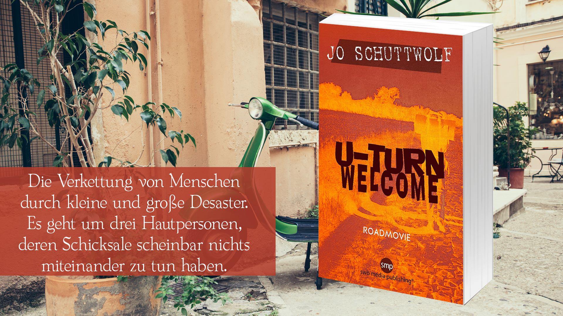 Banner U-Turn Welcome von Jo Schuttwolf, Roadtrip